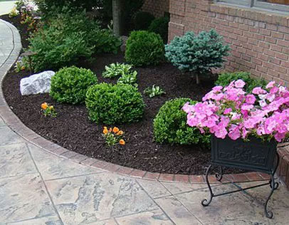 Curved Flower Bed w/ Shrubs | Owasso OK
